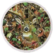Deer Camo Round Beach Towel