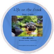 Deer Creek Ferns Round Beach Towel