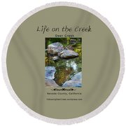 Deer Creek Point Round Beach Towel