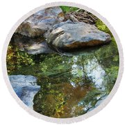 Deer Creek Point Print Round Beach Towel