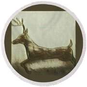 Deer Energy Round Beach Towel