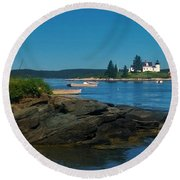 Deer Island Maine Round Beach Towel