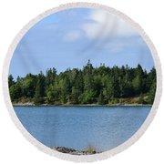 Deer Isle, Maine No. 5 Round Beach Towel