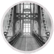 Deer Isle Sedgwick Bridge Round Beach Towel