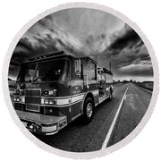 Deerfield Fire Dept Round Beach Towel