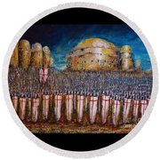Defence Of Jerusalem Round Beach Towel