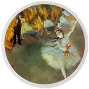 Round Beach Towel featuring the photograph Degas Star, 1876-77. To License For Professional Use Visit Granger.com by Granger