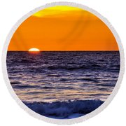 Del Mar Sunset, View 2 Round Beach Towel