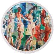 Delaunay: City Of Paris Round Beach Towel