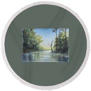 Delaware River  Round Beach Towel