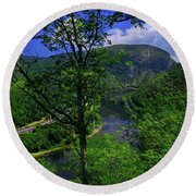 Delaware Water Gap Round Beach Towel