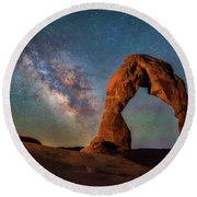 Round Beach Towel featuring the photograph Delicate Air Glow by Darren White