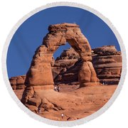 Delicate Arch - 8574 Round Beach Towel