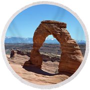 Delicate Arch Arches National Park Round Beach Towel