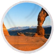 Delicate Arch In Utah Round Beach Towel