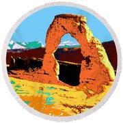 Delicate Arch Utah - Pop Art Round Beach Towel