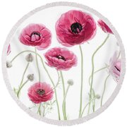 Round Beach Towel featuring the photograph Delicate Arrangement by Rebecca Cozart