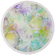 Delicate Bubbles Round Beach Towel