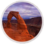 Delicate Dusk Round Beach Towel
