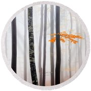 Delicate Forest Round Beach Towel