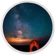 Delicate Galaxies Round Beach Towel