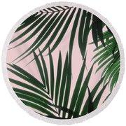 Delicate Jungle Theme Round Beach Towel