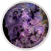 Delicate Lavender Forms Round Beach Towel