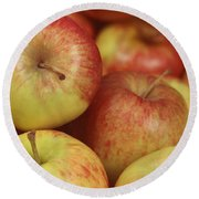 Delicious Apple Fruit Background Round Beach Towel