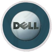 Dell T-shirt Round Beach Towel by Herb Strobino