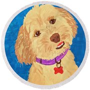 Della Date With Paint Nov 20th Round Beach Towel