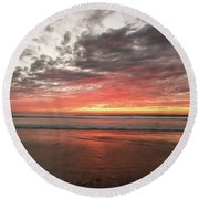 Delmar Beach San Diego Sunset Img 1 Round Beach Towel
