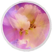 Delphinium Abstract Round Beach Towel