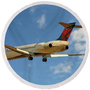 Delta Airlines Boeing 717-200 Round Beach Towel