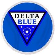 Round Beach Towel featuring the digital art Delta Bluebirds by Dave Luebbert