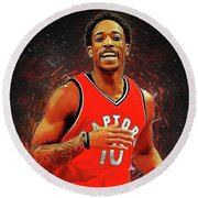 Demar Derozan Round Beach Towel