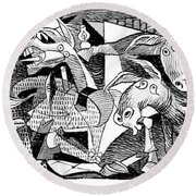 Democrat Guernica Round Beach Towel