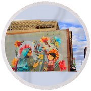 Denver Art Street Round Beach Towel