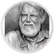 Denver Pyle Round Beach Towel