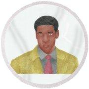 Denzel Washington Round Beach Towel
