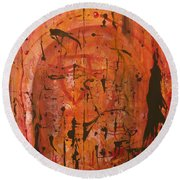 Departing Abstract Round Beach Towel