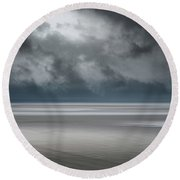 Departing Storm Round Beach Towel