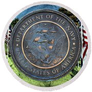 Department Of The Navy - United States Round Beach Towel