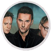Depeche Mode Painting Round Beach Towel
