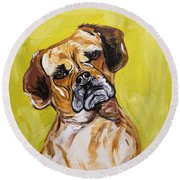 Deph Date With Paint Nov 20th Round Beach Towel