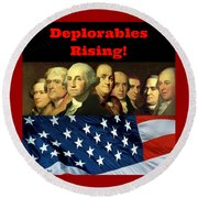 Deplorables Rising Round Beach Towel by Rand Swift