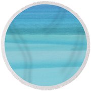 Depth Perception Round Beach Towel by Az Jackson