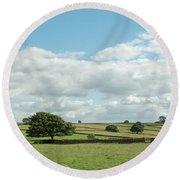 Derbyshire Landscape Round Beach Towel
