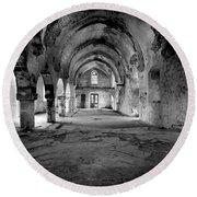 Derelict Cypriot Church. Round Beach Towel