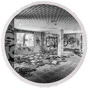 Derelict Room. Round Beach Towel