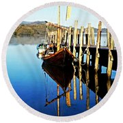 Derwent Water Boat Round Beach Towel